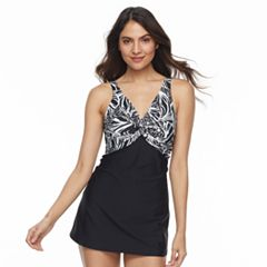 Women's Beach Scene Bust Enhancer Swimdress