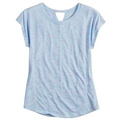 Girls 7-16 SO® Easy Coverstitch Performance Tee