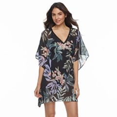 Women's Beach Scene Printed Caftan Cover-Up