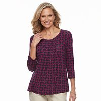 Women's Croft & Barrow® Smocked-Bib Top