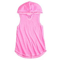 Girls 7-16 SO® Hooded Tunic Tank Top
