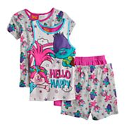 Girls 4-10 DreamWorks Trolls Poppy & Branch Top & Bottoms Pajama Set