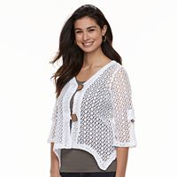 Women's Nina Leonard Handkerchief Knit Cardigan