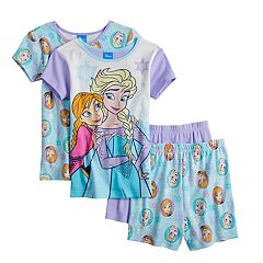Disney's Frozen Anna & Elsa Girls 4-10 Top & Shorts Pajama Set