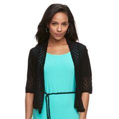 Women's Nina Leonard Crocheted Bolero