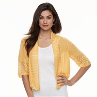 Women's Nina Leonard Crocheted Bolero