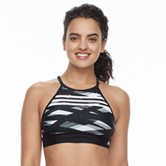 Women's adidas Painted Palms D-Cup Crop Bikini Top