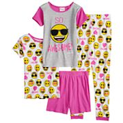 Girls 4-10 Emoji 'So Awesome' Tops & Bottoms Pajama Set