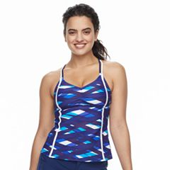 Women's adidas Electric Printed D-Cup Tankini Top