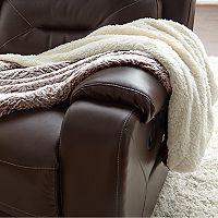 Faux Fur Reversible Sherpa Fleece Throw