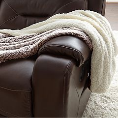 Faux Fur Reversible Sherpa Fleece Throw