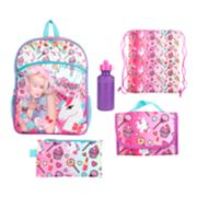 Kids JoJo Siwa Backpack, Lunch Bag, Pencil Case, Water Bottle & Sling Bag Set
