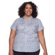 Plus Size Croft & Barrow® Button-Front Top