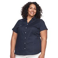 Plus Size Croft & Barrow® Button-Front Top