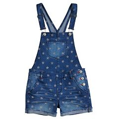 Girls 7-16 SO® Americana Shortalls