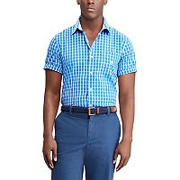 Men's Chaps Classic-Fit Checked Easy-Care Woven Button-Down Shirt
