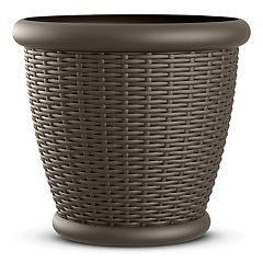 Suncast Resin Wicker Planter