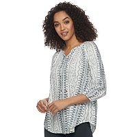 Women's SONOMA Goods for Life™ Smocked Challis Top