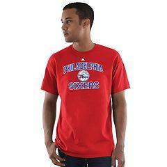Men's Majestic Philadelphia 76ers Heart & Soul Tee