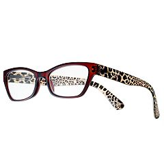 380e8d22915 Women s Modera by Foster Grant Marcia Leopard Cat-Eye Reading Glasses