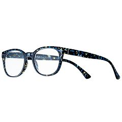 Women's Modera by Foster Grant Kinsley Blue Leopard Square Reading Glasses