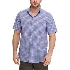 Men's Chaps Classic-Fit Plaid Easy-Care Button-Down Shirt