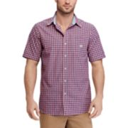 Men's Chaps Classic-Fit Mini-Checked Easy-Care Button-Down Shirt