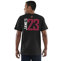 Men's Majestic Cleveland Cavaliers LeBron James Name and Number Tee