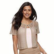 Women's Nina Leonard Crochet Bolero