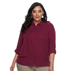 Plus Size Apt. 9® Button Front Top