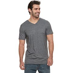 Big & Tall Apt. 9® Relaxed-Fit Striped End-on-End Stretch V-Neck Lounge Tee