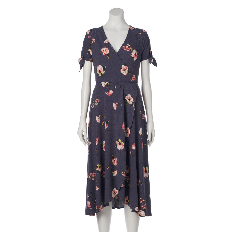 Womenu0027s LC Lauren Conrad Faux Wrap Midi Dress