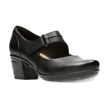 Clarks Emslie Lulin Women's Ortholite Mary Janes Heels