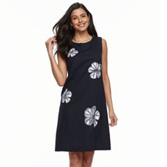 Women's Nina Leonard Floral-Embroidered Sheath Dress