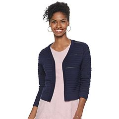 Women's Nina Leonard Texture-Striped Shrug