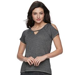 Women's Rock & Republic® Cold-Shoulder Raglan Tee