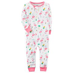 Baby Girl Carter's Printed One-Piece Pajamas