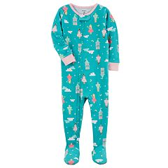 Toddler Girl Carter's Printed Footed Pajamas