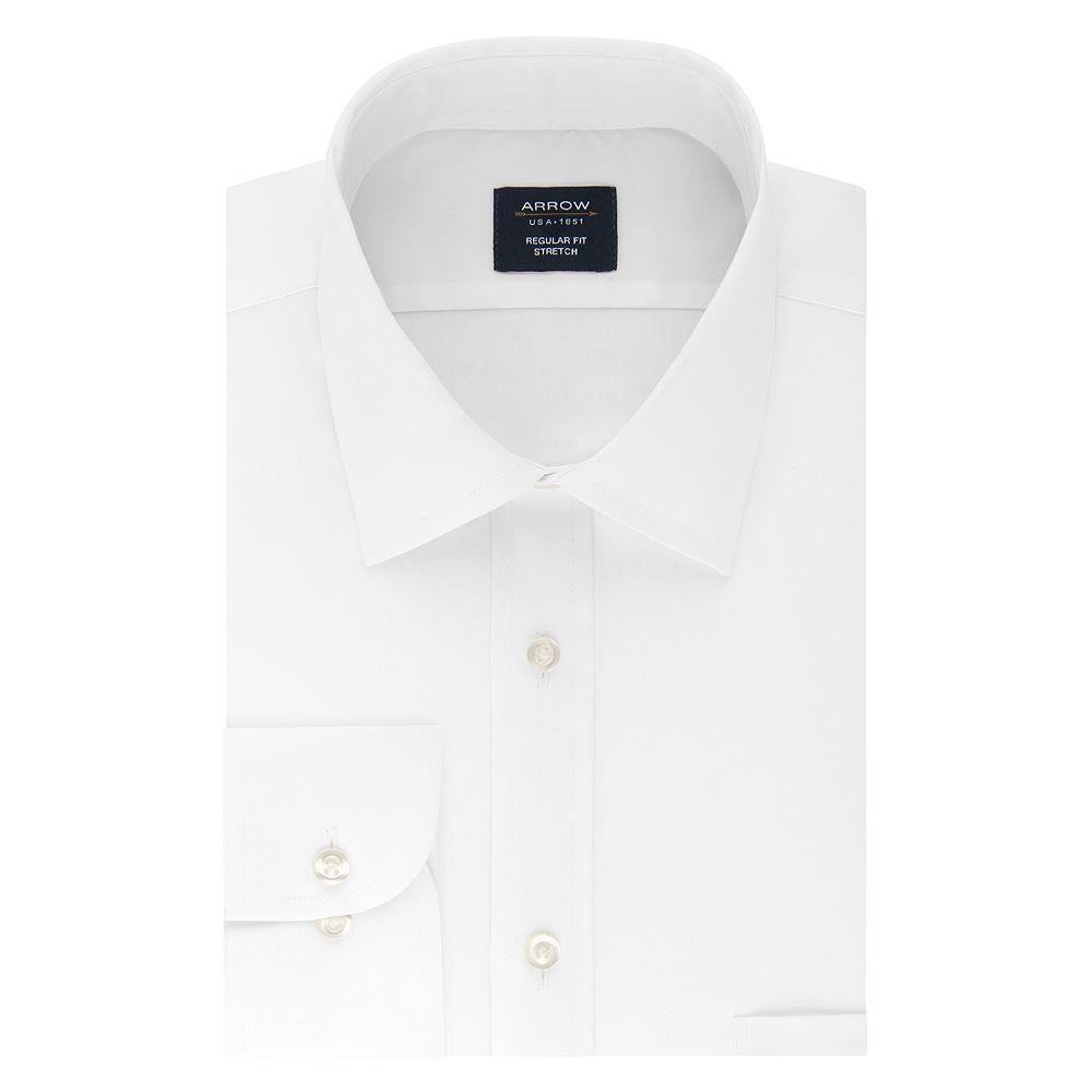 Men's Arrow Regular-Fit Stretch Spread-Collar Dress Shirt