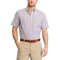 Men's Chaps Classic-Fit Gingham-Checked Easy-Care Button-Down Shirt