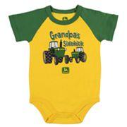 Baby Boy John Deere 'Grandpa's Sidekick' Tractors Bodysuit