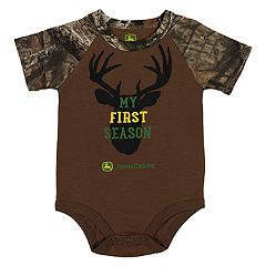 Baby Boy John Deere 'My First Season' Deer Camo Bodysuit