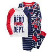 Toddler Boy Carter's 4-pc. Pajamas Set