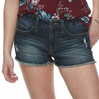 Juniors' SO® Low-Rise Frayed Hem Shorts