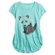 Girls 7-16 & Plus Size Mudd® Graphic High-Low Hem Tee