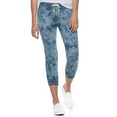 Juniors' SO® Tie-Dye Crop Jogger Pants