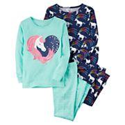 Baby Girl Carter's 4 pc Unicorns Pajamas Set