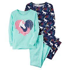 Baby Girl Carter's 4-pc. Unicorns Pajamas Set
