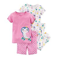 Baby Girl Carter's 4 pc Printed Pajamas Set
