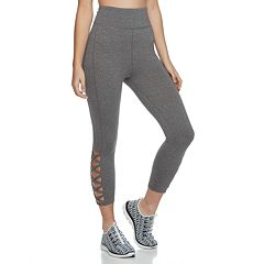 Juniors' SO® High-Rise Lattice Cutout Yoga Capris